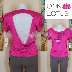 [NEW] Pink Lotus Wrap Yoga Top